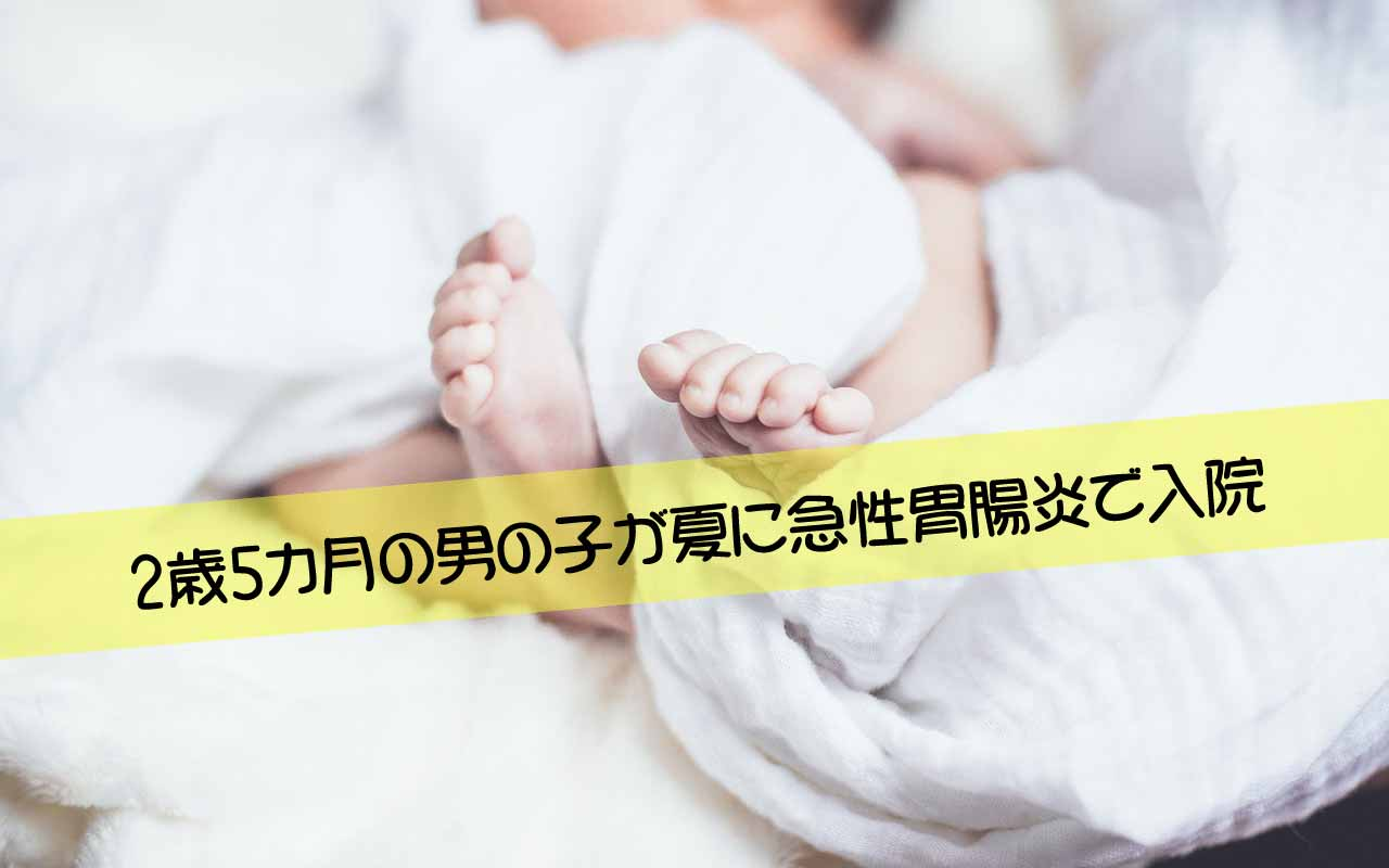 2歳5カ月の男の子が夏に急性胃腸炎で入院